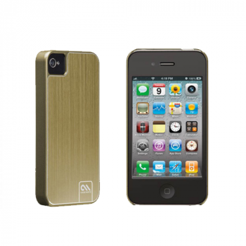 Case-Mate-BarelyThere Case für Apple iPhone 4/4S Brushed Alu gold