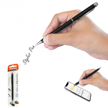 Muvit Touchscreen-Stift Stylus Pen 2in1 Model-03 schwarz