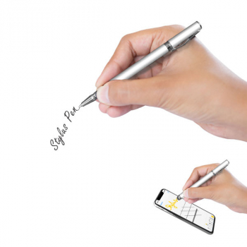 cyoo Touchscreen-Stift Stylus Pen 2in1 Model-03 silber