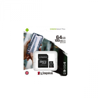 Kingston Canvas Select Plus R100 microSDXC 128GB, UHS-I U1, A1, Class 10 (SDCS2/128GB)