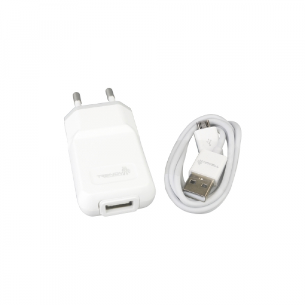 Reise- Ladegerät Set microUSB weiß