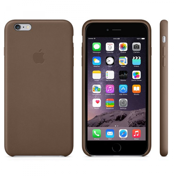 iPhone 6s Plus / iPhone 6 Plus Leder Snap-on-Cover braun (MGQR2ZM/A)