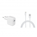 Original Apple MD819ZM/A 2m Lightning Kabel und Apple MD836ZM/A A1401 12W USB Power Adapter